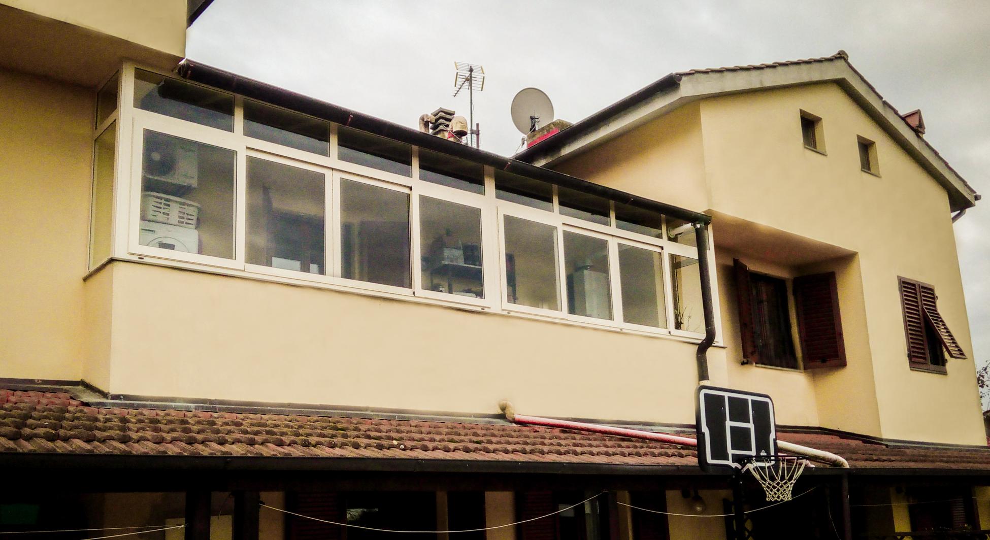 Veranda in alluminio verniciato X1-2